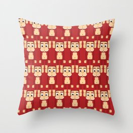 Super cute animals - Cheeky Red Monkey Throw Pillow
