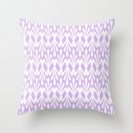 Decorative Plumes - White on Lavender Pink Throw Pillow