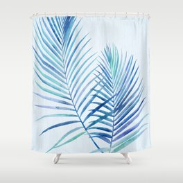 Feathery Palm Leaves Shower Curtain