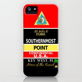 Key West Southernmost Point Buoy iPhone Case
