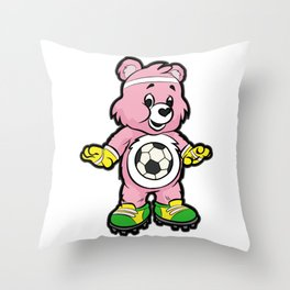 SOCCER Player TEDDY Bear Son Daughter Pit Cleats Throw Pillow