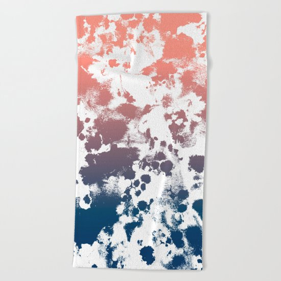 Ombre fade tie dye pastel trendy color way throwback retro palette 80s 90s style Beach Towel