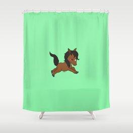Cute Baby Horse Shower Curtain