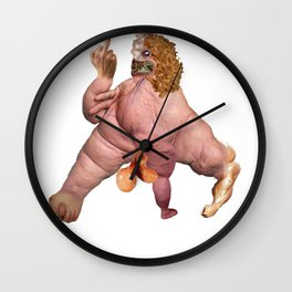 PISSED MONSTER Wall Clock