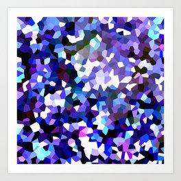 Ultra Violet Purple Blue Gems Art Print