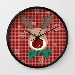 Deer. Patchwork Wall Clock