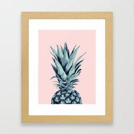 Blush Pineapple Dream #1 #tropical #fruit #decor #art #society6 Framed Art Print