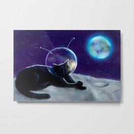 Mooncat. Metal Print