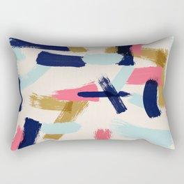 Bohemian tribal brush stroke Rectangular Pillow