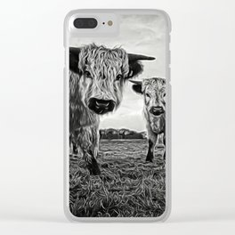 Two Shaggy Cows Clear iPhone Case
