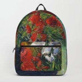 """Gustave Caillebotte """"Vase de glaieuls - Gladiolus vase"""" Backpack"""