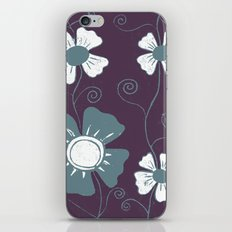 lino cut flower iPhone & iPod Skin