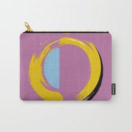 Zen circle yellow orange purple blue art print Carry-All Pouch