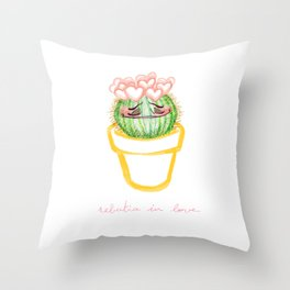 Rebutia in love Throw Pillow