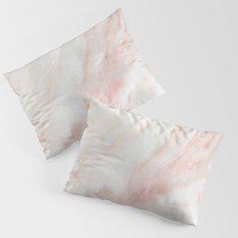 Softest blush pink marble Pillow Sham