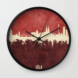 Cologne (Köln) Germany Skyline Wall Clock