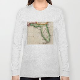 Vintage Map of Florida (1822) Long Sleeve T-shirt