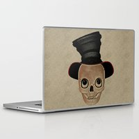mad hatter Laptop & iPad Skins featuring Mad Skull Hatter by Texnotropio