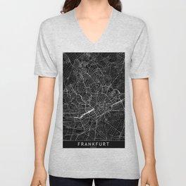 Frankfurt Black Map Unisex V-Neck
