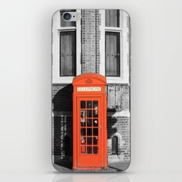 London Calling Red Telephone Phone Booth iPhone Skin