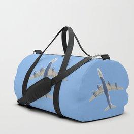 Flying plane enveloped in air Duffle Bag