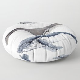 Humpback whales Floor Pillow