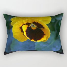 Yellow Pansy Flower Rectangular Pillow