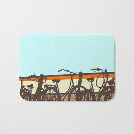 On your bike (Blue & Orange) Bath Mat