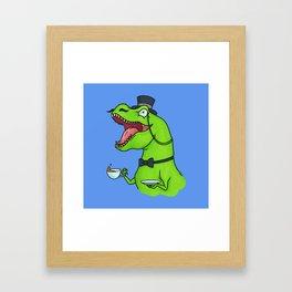 Tea Rex Framed Art Print