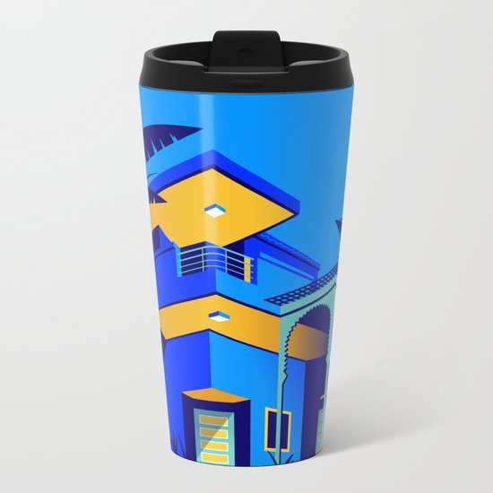 Jardin Majorelle Metal Travel Mug