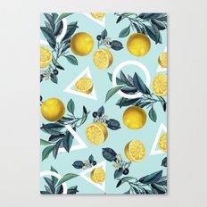 Geometric and Lemon pattern III Canvas Print