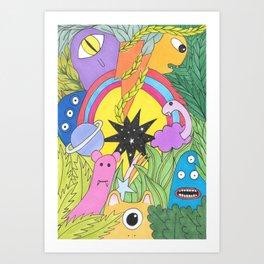 Monster Universe Art Print