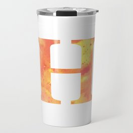 Letter H in warm tones Travel Mug