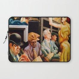 Classical Masterpiece 'Boston - Girl on the Subway' by Thomas Hart Benton Laptop Sleeve