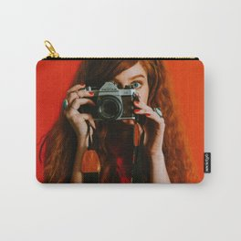 photographer in red Carry-All Pouch