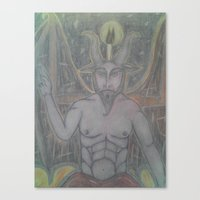 baphomet Canvas Prints featuring BAPHOMET by Kathead Tarot/David Rivera