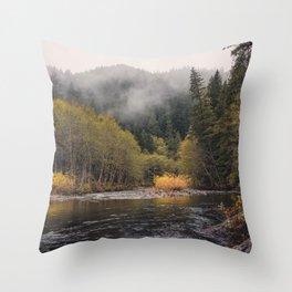 Salmon River I Throw Pillow