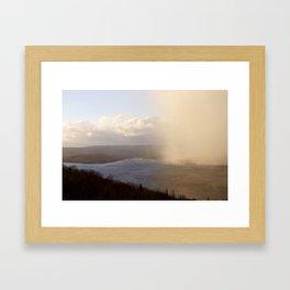 Fog rolling in Cape Breton Framed Art Print