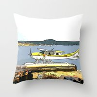 airplane Throw Pillows featuring Airplane by Cindys