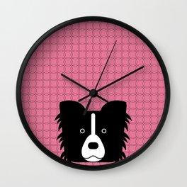 Pop Dog Border Collie Wall Clock