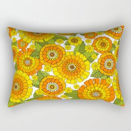 Groovy flower bunch Rectangular Pillow