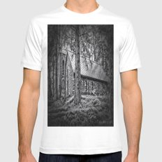 Church in the Woods MEDIUM White Mens Fitted Tee