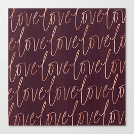 Burgandy Love Canvas Print