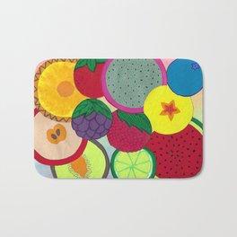 Fruity Circular Slices Bath Mat