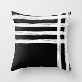 Gross Stripes on Black No.2 Throw Pillow