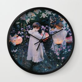 John Singer Sargent's Carnation, Lily, Lily, Rose Wall Clock