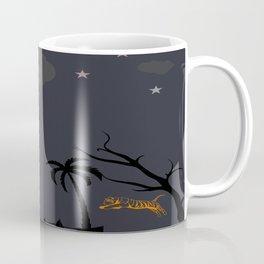 Wildlife At Night With Tiger Coffee Mug