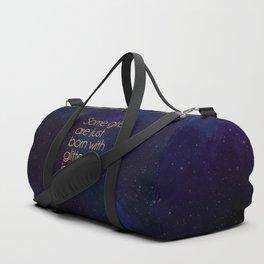 Glitter Girl Quote Duffle Bag
