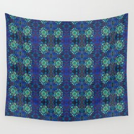 Neo-Tribal Floral Print Wall Tapestry