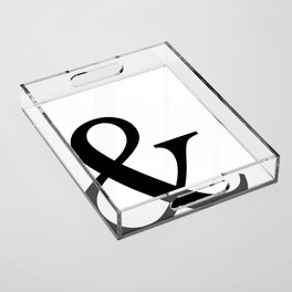 Typography, Ampersand, And Sign Acrylic Tray